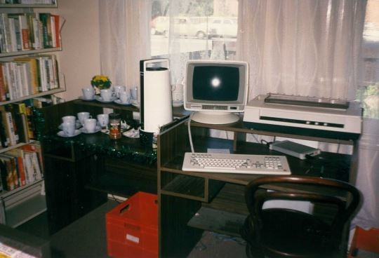 Image of Fairfield House Library with Commodore 64 computer
