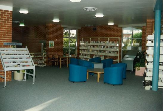 Image of Northcote Library with compact discs display