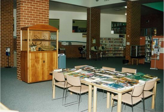 Image of Northcote library with display table
