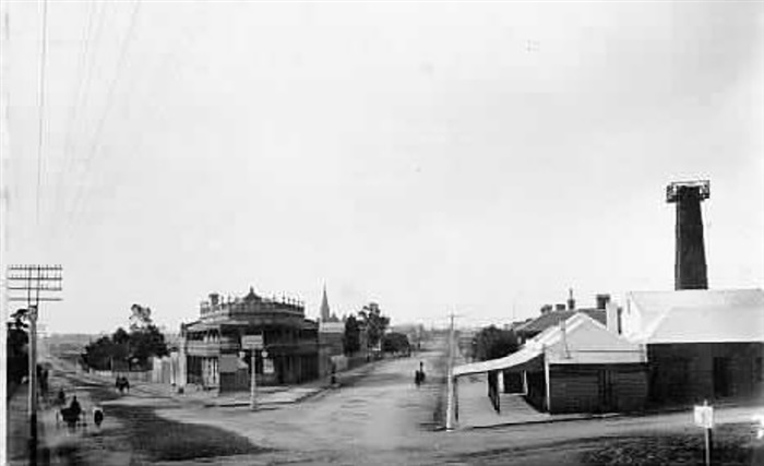 image - photo - Junction Hotel and bacon curing factory around 1890s.