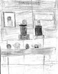 Image - Drawing. A courtroom