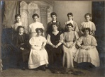 Image. Photograph of the All Saints girls missionary band. 1908