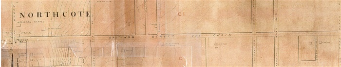 Image - Map. Bastings Street ; from High Street to Victoria Road. Circa 1865.