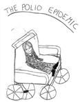 Image - Drawing. A child with polio in a wheelchair