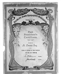 Image - document - Illuminated address (1903) presented to N? Evans for his services to the Ratepayers Association