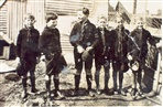 Image - Photo. 1st Alphington Scouts outside Scout Den 1927. (Converted cow sheds at Mrs Carlson's place, Geneva Rd, Alphington).