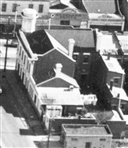 Photo - Carter's Arms Hotel seen from the air, 1950s.