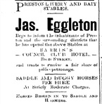 Scan - Advertisement from Northcote Leader for stables at Council Club Hotel.