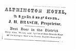 Image - Advertisement for the Alphington Hotel.
