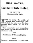 Scan - Advertisement from Northcote Leader for Council Club Hotel.