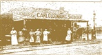 Image - photo. Oldenberg's saddlery from the Northcote Leader 1908.