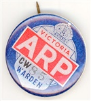 Image - Photo. Air Raid Warden's badge.