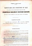 image - Transfer of land document Fairfield Railway Station Estate for Mrs Eation.