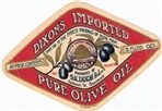 Image - label for 'Dixon's Imported Pure Olive Oil'