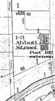 Map - Subdivision map featuring Abbott Street toll house. Courtesy Graeme Butler