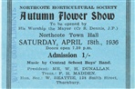 Image - 1936 Northcote Flower Show admission ticket.