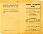 Image - document - Introductory booklet on Northcote Horticultural Society